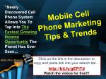 mobile cell phone marketing tips trends6
