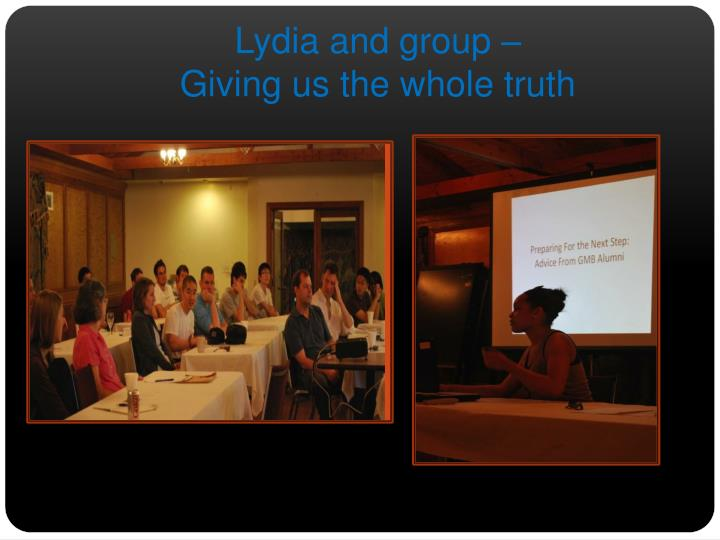Lydia and group –