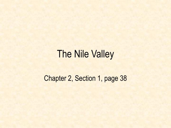 the nile valley n.