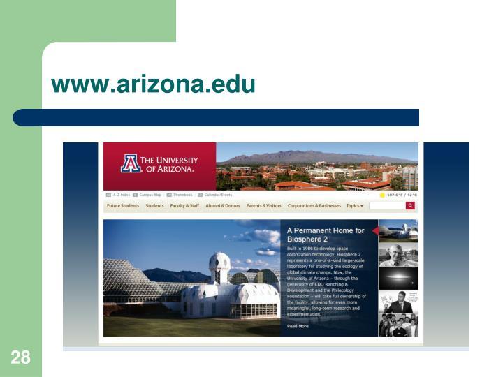 www.arizona.edu