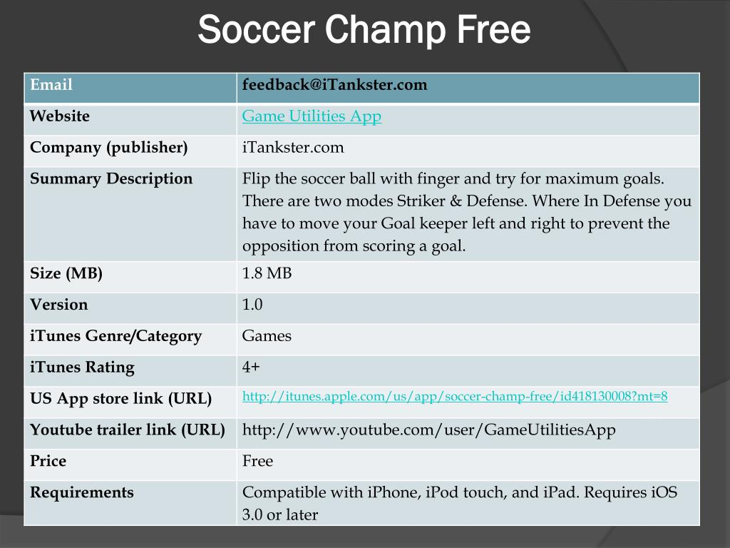 soccer champ free l.