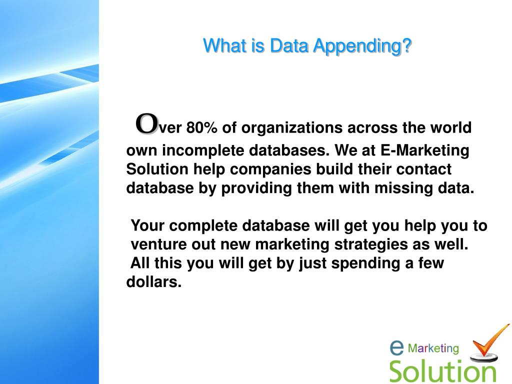 What is Data Appending?