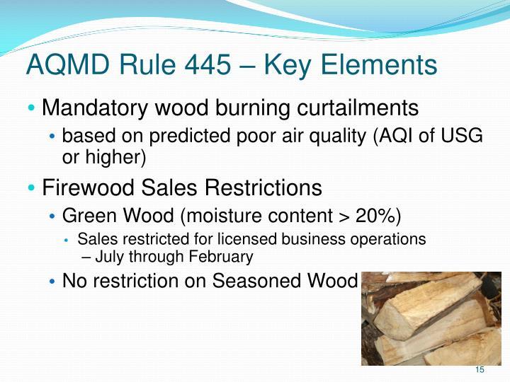 AQMD Rule 445 – Key Elements