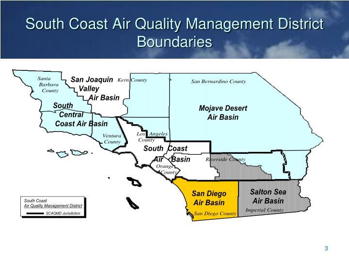 South coast air quality management district boundaries