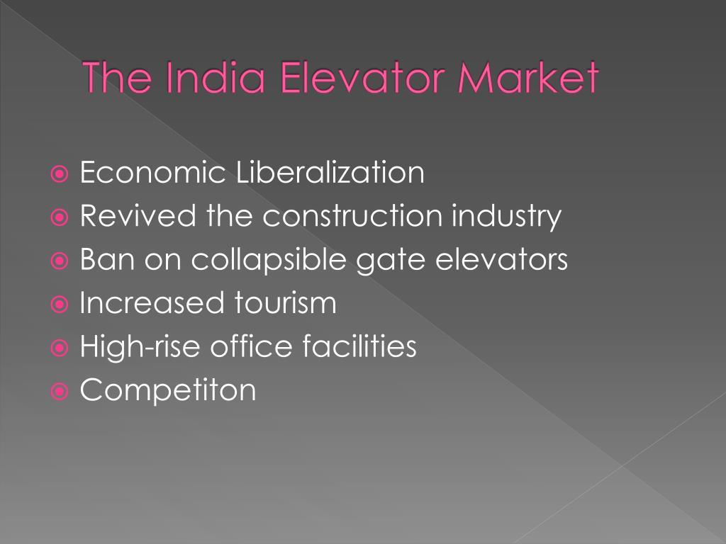 The India Elevator Market
