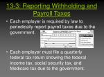 13 3 reporting withholding and payroll taxes2