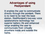 advantages of using medipendant