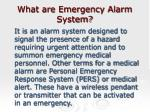 what are emergency alarm system