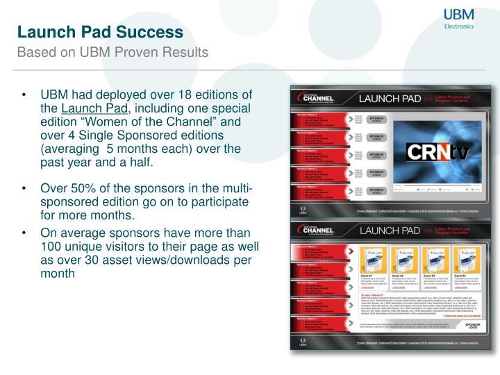 Launch pad success