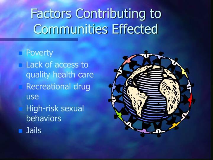 Factors Contributing to Communities Effected