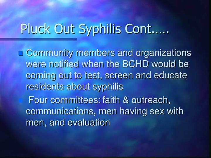 Pluck Out Syphilis Cont.….