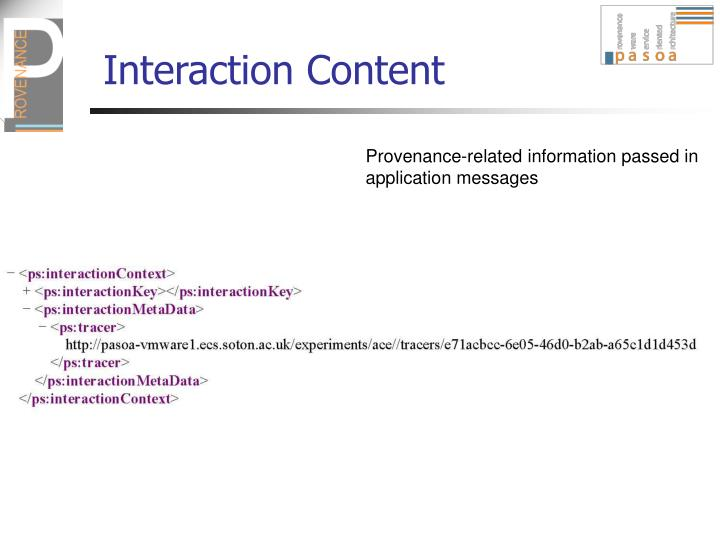 Interaction Content