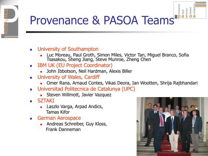 Provenance pasoa teams