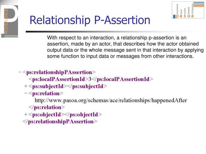 Relationship P-Assertion