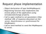 request phase implementation