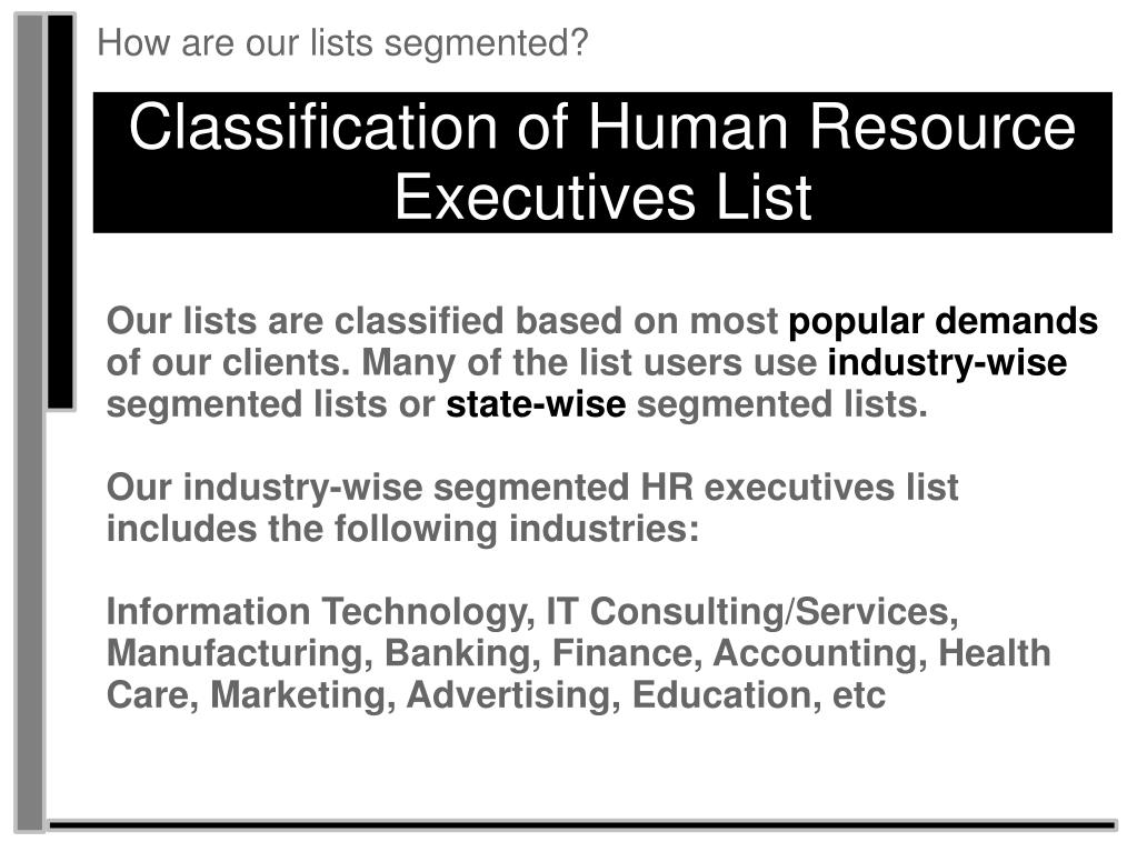 How are our lists segmented?