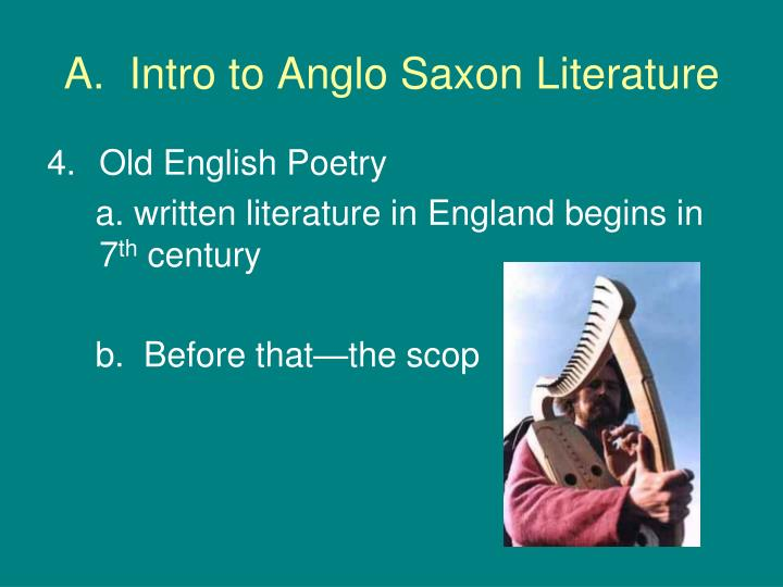 an introduction to the analysis of anglo saxon poetry In the next development in the study of the theme in anglo-saxon poetry this introduction of variety does not exist in my analysis of introductions to.