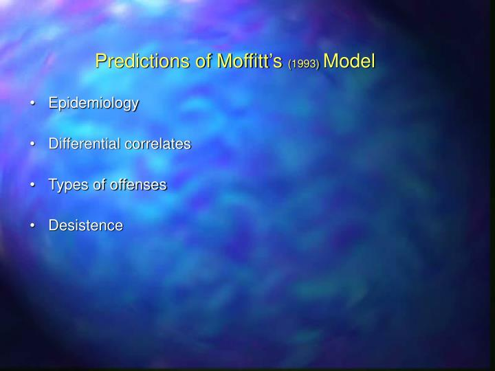 Predictions of Moffitt's