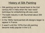 history of silk painting
