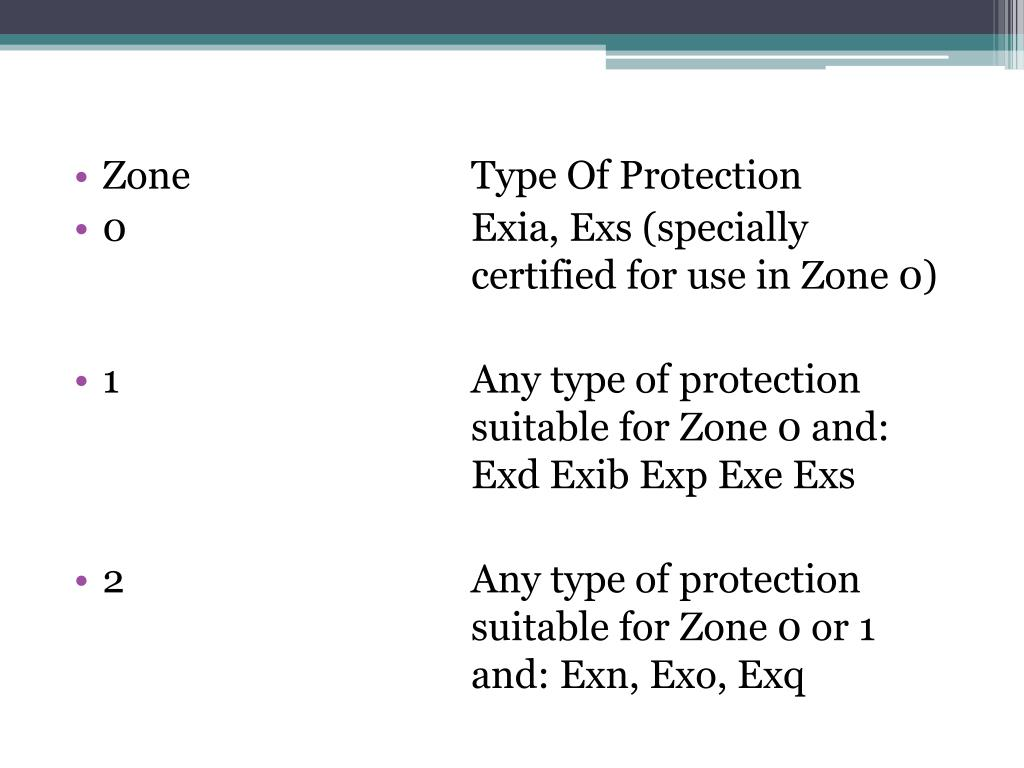 PPT - Exe Increased Safety, Exn Non-Sparking, Exp