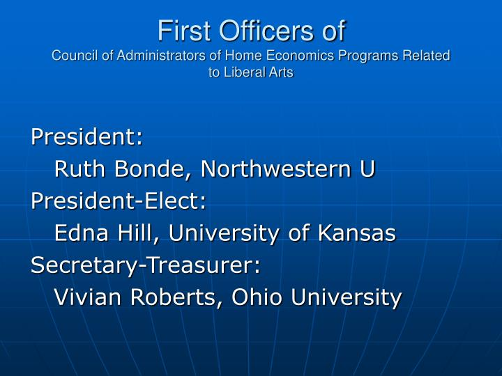 First Officers of