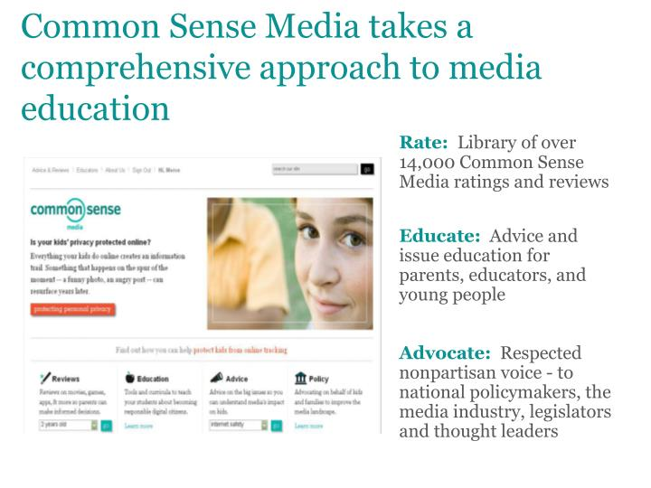 Common sense media takes a comprehensive approach to media education