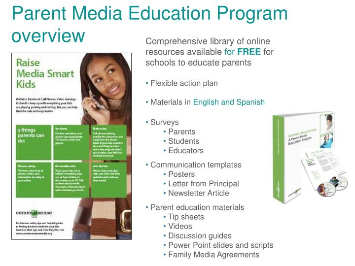 Parent Media Education Program overview