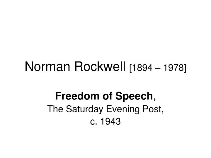 norman rockwell 1894 1978 n.