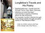 longfellow s travels and his poetry