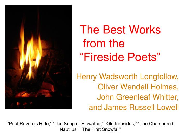 the best works from the fireside poets n.