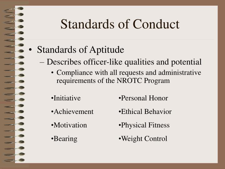 creating standards for ethical behavior Include norms for behavior that are consistent with the ethical standards or the code of conduct, mission, and decision-making processes (trevino & brown, 2004) consistent role modeling of such behavior forms the basis.