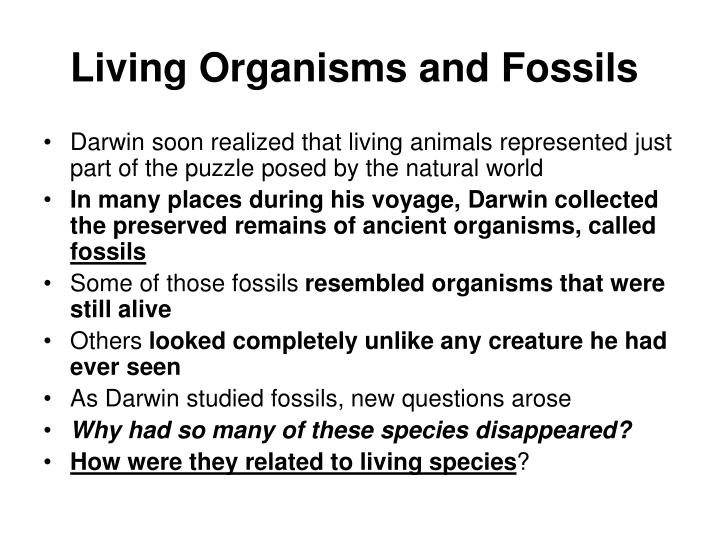 Living Organisms and Fossils