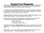 support for rewards