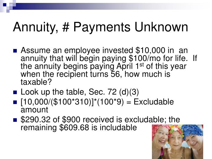 Annuity, # Payments Unknown