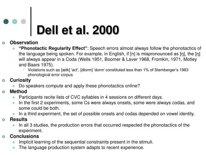 Dell et al. 2000