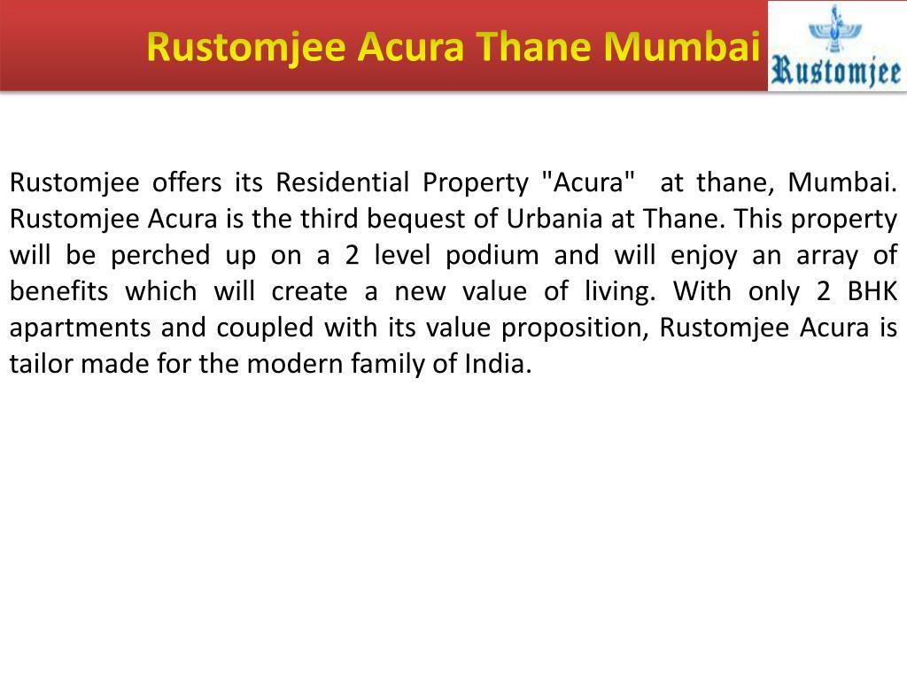 Rustomjee Acura Thane Mumbai