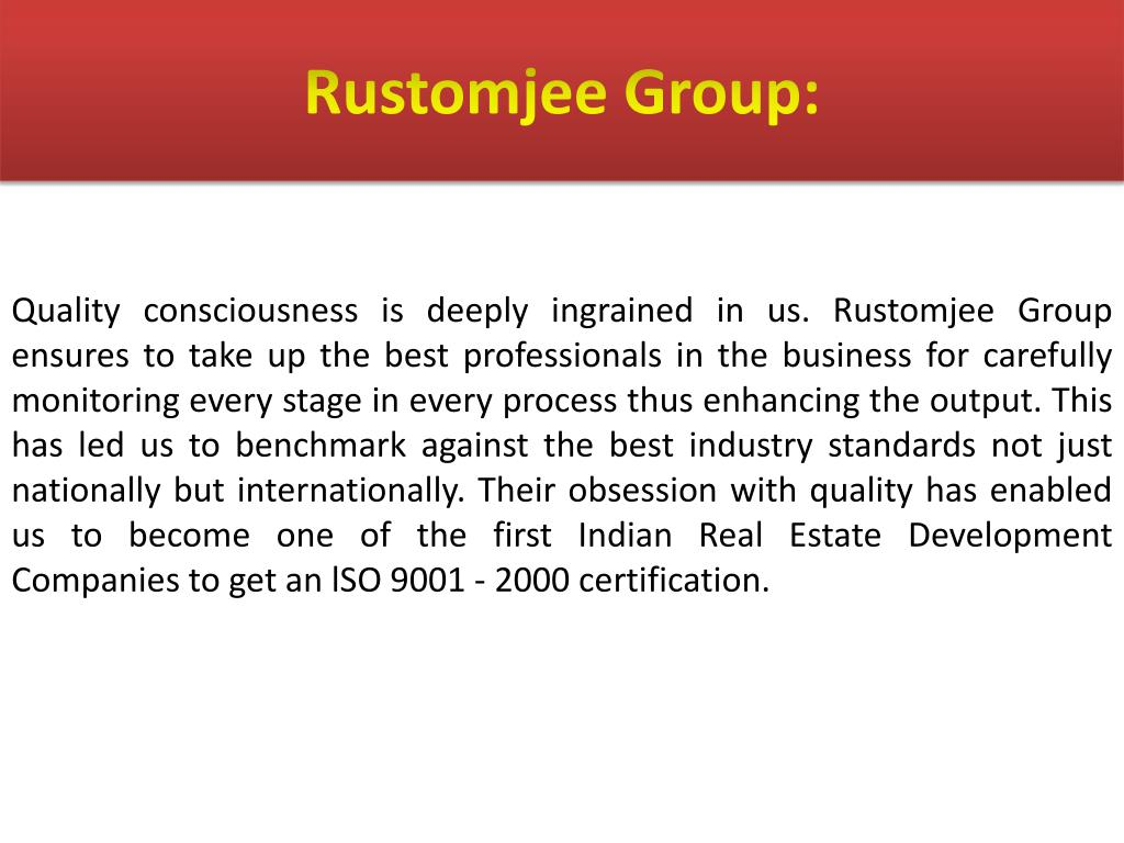 Rustomjee Group:
