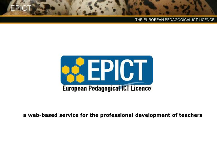 a web based service for the professional development of teachers n.