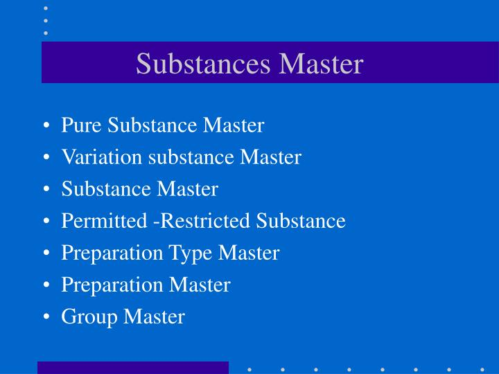 Substances Master