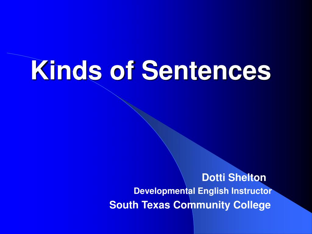 kind of sentences in english