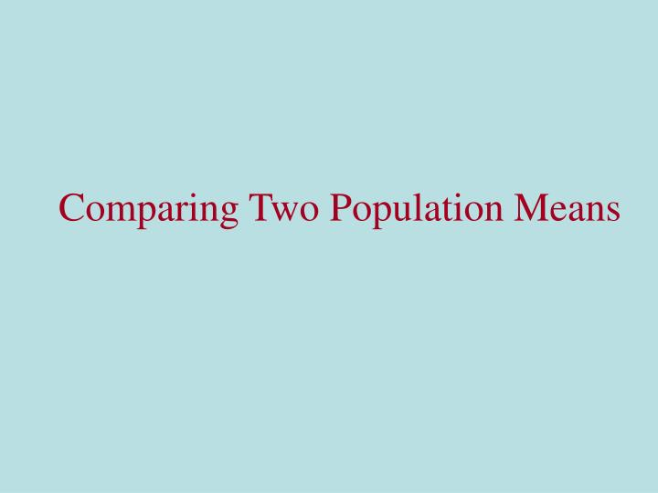 comparing two population means n.
