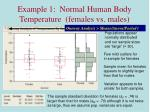 example 1 normal human body temperature females vs males5