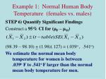 example 1 normal human body temperature females vs males8