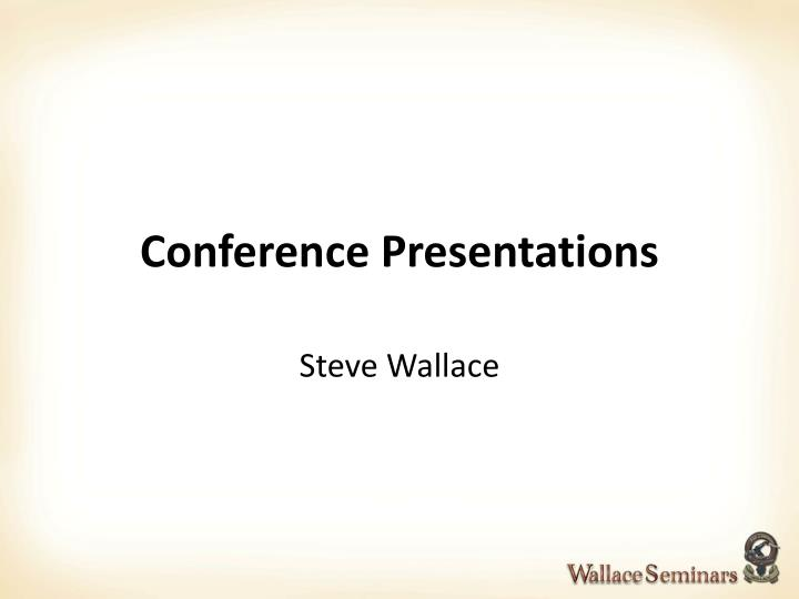 conference presentations n.