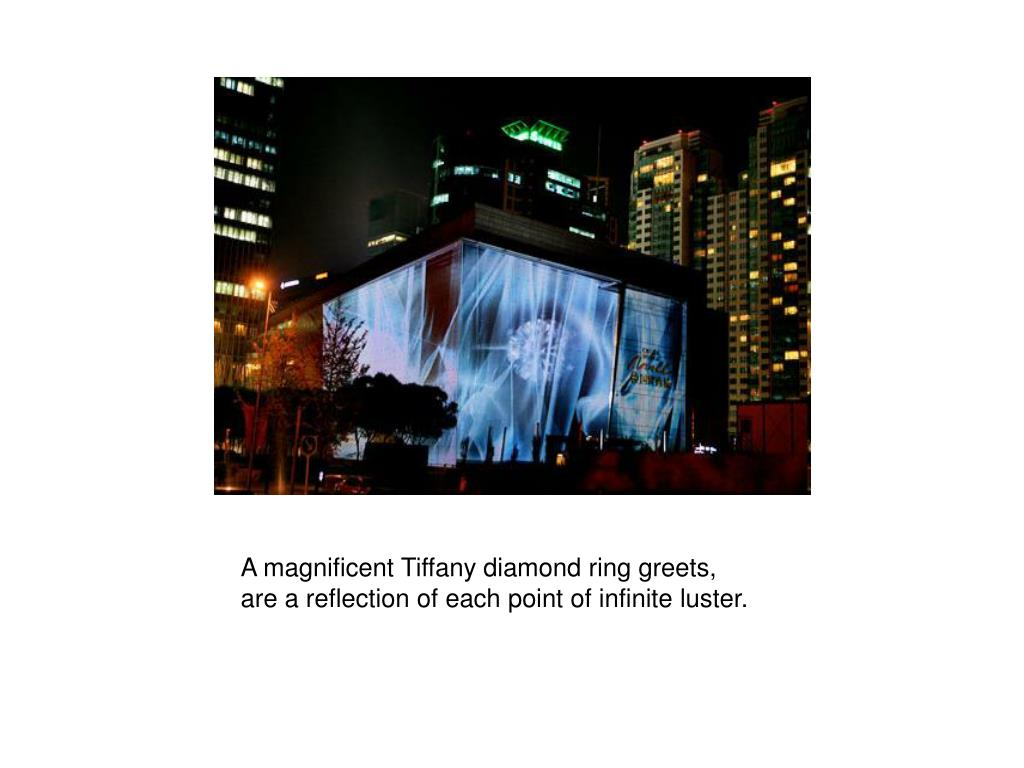 A magnificent Tiffany diamond ring greets,
