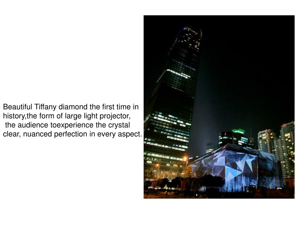Beautiful Tiffany diamond the first time in