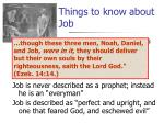 things to know about job