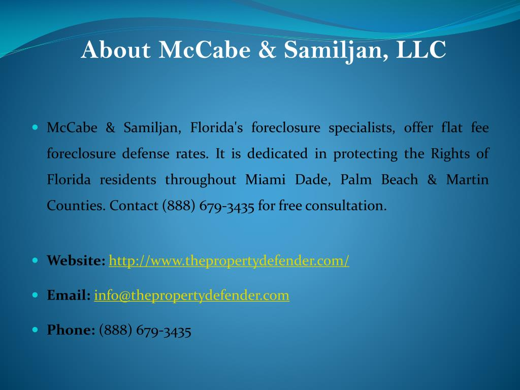 About McCabe & Samiljan, LLC