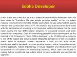 sobha developer