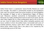 sobha forest view bangalore